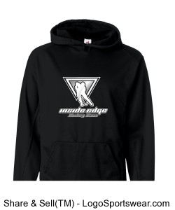 Badger Adult Moisture Management Hooded Sweatshirt Design Zoom